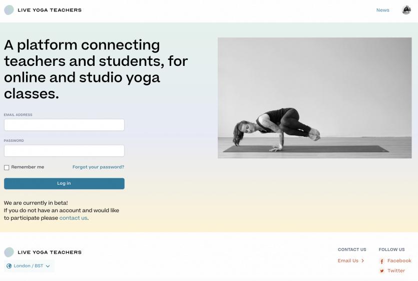 Live yoga teachers home page
